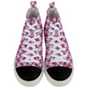HOUNDSTOOTH2 WHITE MARBLE & PINK DENIM Men s Mid-Top Canvas Sneakers View1