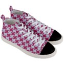 HOUNDSTOOTH2 WHITE MARBLE & PINK DENIM Men s Mid-Top Canvas Sneakers View3