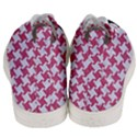 HOUNDSTOOTH2 WHITE MARBLE & PINK DENIM Men s Mid-Top Canvas Sneakers View4