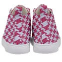 HOUNDSTOOTH2 WHITE MARBLE & PINK DENIM Kid s Mid-Top Canvas Sneakers View4