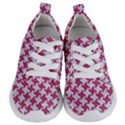 HOUNDSTOOTH2 WHITE MARBLE & PINK DENIM Kids  Lightweight Sports Shoes View1