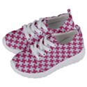 HOUNDSTOOTH2 WHITE MARBLE & PINK DENIM Kids  Lightweight Sports Shoes View2