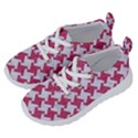 HOUNDSTOOTH2 WHITE MARBLE & PINK DENIM Running Shoes View2