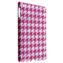 HOUNDSTOOTH1 WHITE MARBLE & PINK DENIM Apple iPad 3/4 Hardshell Case (Compatible with Smart Cover) View2