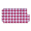 HOUNDSTOOTH1 WHITE MARBLE & PINK DENIM Apple iPhone 5 Hardshell Case (PC+Silicone) View1