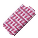HOUNDSTOOTH1 WHITE MARBLE & PINK DENIM Apple iPhone 5 Hardshell Case (PC+Silicone) View4