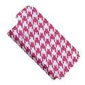 HOUNDSTOOTH1 WHITE MARBLE & PINK DENIM Apple iPhone 5 Hardshell Case (PC+Silicone) View5