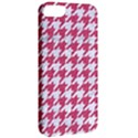 HOUNDSTOOTH1 WHITE MARBLE & PINK DENIM Apple iPhone 5 Classic Hardshell Case View2