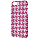 HOUNDSTOOTH1 WHITE MARBLE & PINK DENIM Apple iPhone 5 Classic Hardshell Case View3
