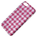 HOUNDSTOOTH1 WHITE MARBLE & PINK DENIM Apple iPhone 5 Classic Hardshell Case View4