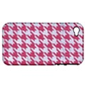 HOUNDSTOOTH1 WHITE MARBLE & PINK DENIM Apple iPhone 4/4S Hardshell Case (PC+Silicone) View1