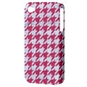 HOUNDSTOOTH1 WHITE MARBLE & PINK DENIM Apple iPhone 4/4S Hardshell Case (PC+Silicone) View3