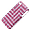 HOUNDSTOOTH1 WHITE MARBLE & PINK DENIM Apple iPhone 4/4S Hardshell Case (PC+Silicone) View4