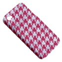 HOUNDSTOOTH1 WHITE MARBLE & PINK DENIM Apple iPhone 4/4S Hardshell Case (PC+Silicone) View5