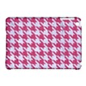 HOUNDSTOOTH1 WHITE MARBLE & PINK DENIM Apple iPad Mini Hardshell Case (Compatible with Smart Cover) View1
