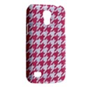HOUNDSTOOTH1 WHITE MARBLE & PINK DENIM Galaxy S4 Mini View2