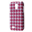 HOUNDSTOOTH1 WHITE MARBLE & PINK DENIM Galaxy S4 Mini View3