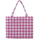 HOUNDSTOOTH1 WHITE MARBLE & PINK DENIM Mini Tote Bag View1