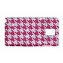 HOUNDSTOOTH1 WHITE MARBLE & PINK DENIM Samsung Galaxy Note 4 Hardshell Case View1