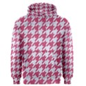 HOUNDSTOOTH1 WHITE MARBLE & PINK DENIM Men s Pullover Hoodie View1
