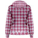 HOUNDSTOOTH1 WHITE MARBLE & PINK DENIM Women s Pullover Hoodie View2