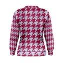 HOUNDSTOOTH1 WHITE MARBLE & PINK DENIM Women s Sweatshirt View2