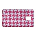 HOUNDSTOOTH1 WHITE MARBLE & PINK DENIM Galaxy Note Edge View1