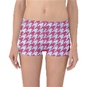 HOUNDSTOOTH1 WHITE MARBLE & PINK DENIM Boyleg Bikini Bottoms View1