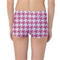 HOUNDSTOOTH1 WHITE MARBLE & PINK DENIM Boyleg Bikini Bottoms View2
