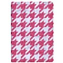 HOUNDSTOOTH1 WHITE MARBLE & PINK DENIM Apple iPad Pro 9.7   Flip Case View1