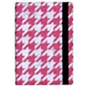 HOUNDSTOOTH1 WHITE MARBLE & PINK DENIM Apple iPad Pro 9.7   Flip Case View2