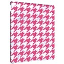 HOUNDSTOOTH1 WHITE MARBLE & PINK DENIM Apple iPad Pro 12.9   Hardshell Case View2