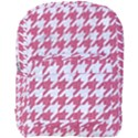 HOUNDSTOOTH1 WHITE MARBLE & PINK DENIM Full Print Backpack View1