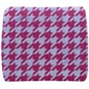 HOUNDSTOOTH1 WHITE MARBLE & PINK DENIM Back Support Cushion View1