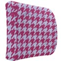 HOUNDSTOOTH1 WHITE MARBLE & PINK DENIM Back Support Cushion View2