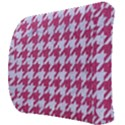 HOUNDSTOOTH1 WHITE MARBLE & PINK DENIM Back Support Cushion View3