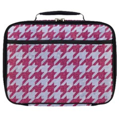 Houndstooth1 White Marble & Pink Denim Full Print Lunch Bag