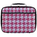 HOUNDSTOOTH1 WHITE MARBLE & PINK DENIM Full Print Lunch Bag View1