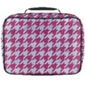 HOUNDSTOOTH1 WHITE MARBLE & PINK DENIM Full Print Lunch Bag View2