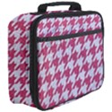 HOUNDSTOOTH1 WHITE MARBLE & PINK DENIM Full Print Lunch Bag View3