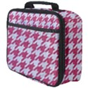 HOUNDSTOOTH1 WHITE MARBLE & PINK DENIM Full Print Lunch Bag View4