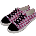 HOUNDSTOOTH1 WHITE MARBLE & PINK DENIM Men s Low Top Canvas Sneakers View2