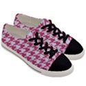 HOUNDSTOOTH1 WHITE MARBLE & PINK DENIM Men s Low Top Canvas Sneakers View3