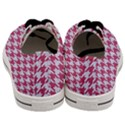 HOUNDSTOOTH1 WHITE MARBLE & PINK DENIM Men s Low Top Canvas Sneakers View4
