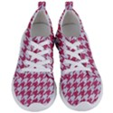 HOUNDSTOOTH1 WHITE MARBLE & PINK DENIM Women s Lightweight Sports Shoes View1