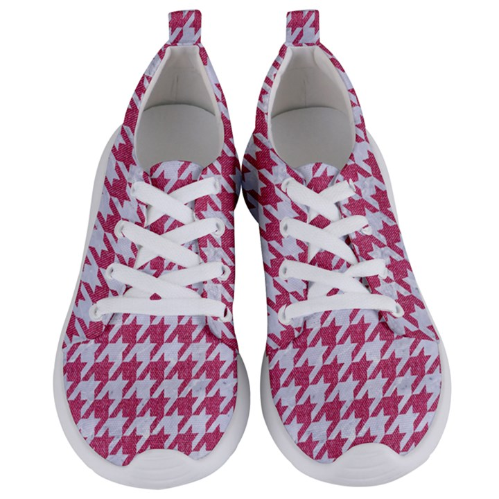 HOUNDSTOOTH1 WHITE MARBLE & PINK DENIM Women s Lightweight Sports Shoes