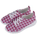 HOUNDSTOOTH1 WHITE MARBLE & PINK DENIM Women s Lightweight Sports Shoes View2