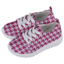 HOUNDSTOOTH1 WHITE MARBLE & PINK DENIM Kids  Lightweight Sports Shoes View2