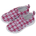 HOUNDSTOOTH1 WHITE MARBLE & PINK DENIM Velcro Strap Shoes View2