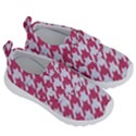 HOUNDSTOOTH1 WHITE MARBLE & PINK DENIM Velcro Strap Shoes View3